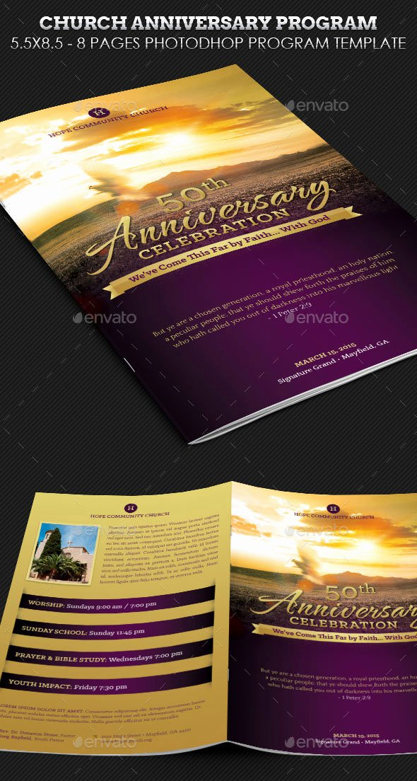 Church Anniversary Program Templates Free Lovely 30 Eye Catching Psd & Indesign Brochure Templates – Bashooka