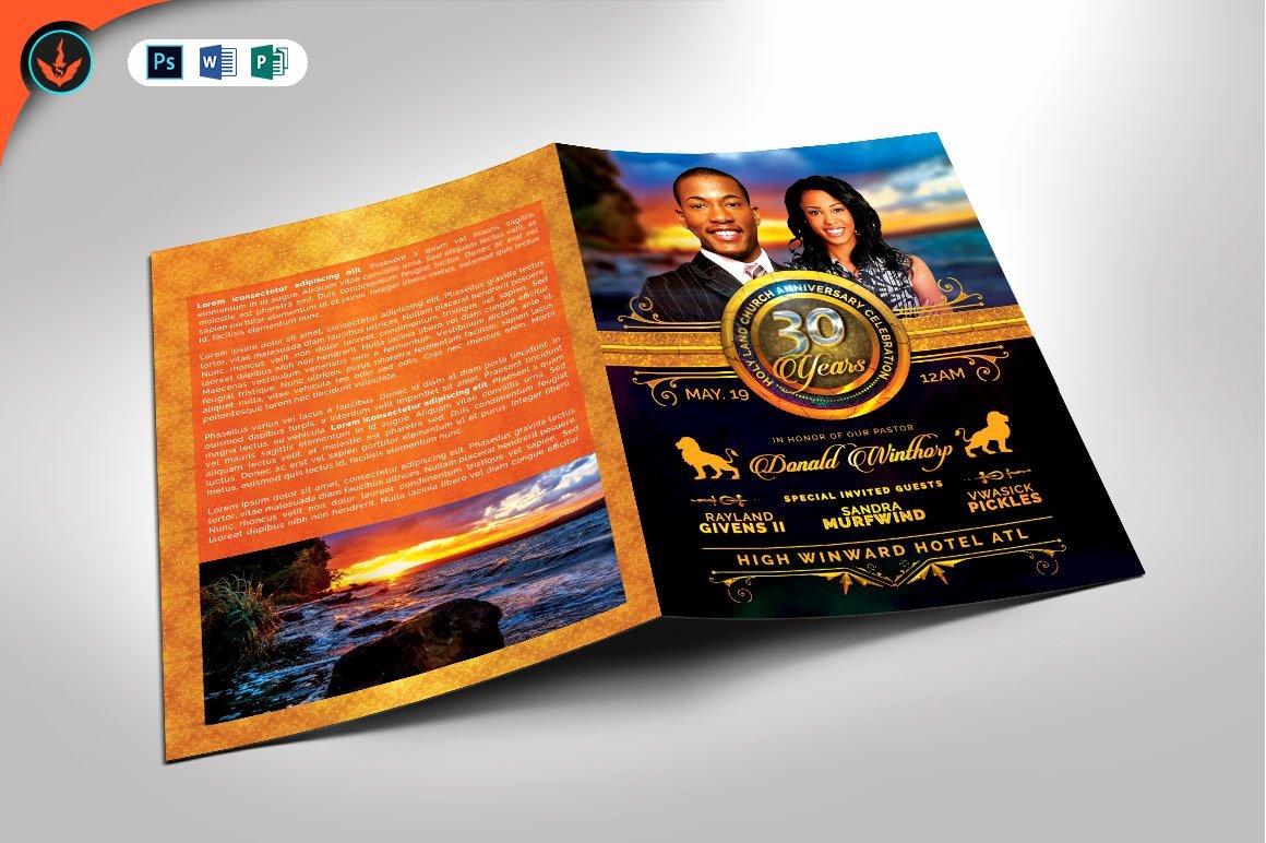 Church Anniversary Program Templates Free Lovely Royal Church Anniversary Program Brochure Templates