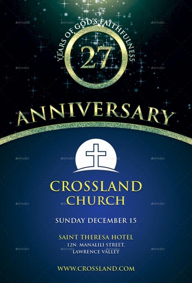 Church Anniversary Program Templates Free Luxury 18 Best Anniversary Flyer Psd Designs