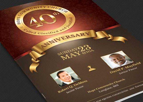 Church Anniversary Program Templates Free Luxury 32 event Brochure Templates Ai Psd Google Docs Apple