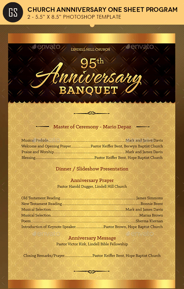 Church Anniversary Program Templates Free Luxury Free and Premium Brochure Templates to Showcase Your
