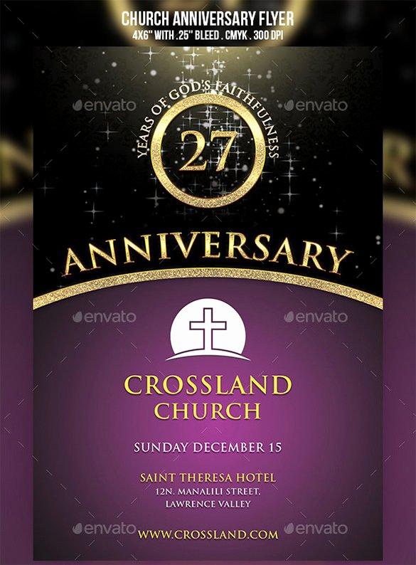 Church Anniversary Program Templates Free New 18 Best Anniversary Flyer Templates Psd Ai Indesign