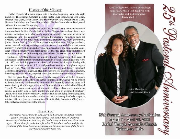 Church Anniversary Program Templates Free New Pastor Anniversary Program Google Search
