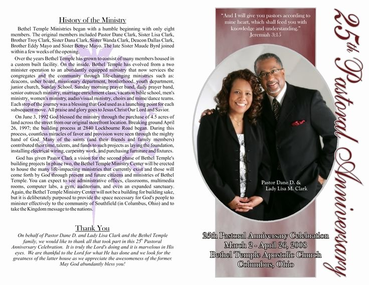 Church Anniversary Program Templates Free Unique Pastor Anniversary Program Google Search