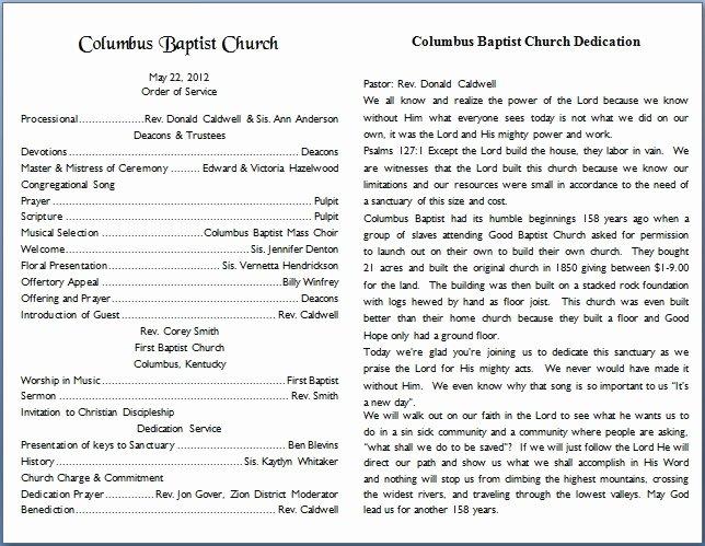 Church Bulletin Templates Free Awesome Church Bulletin Templates