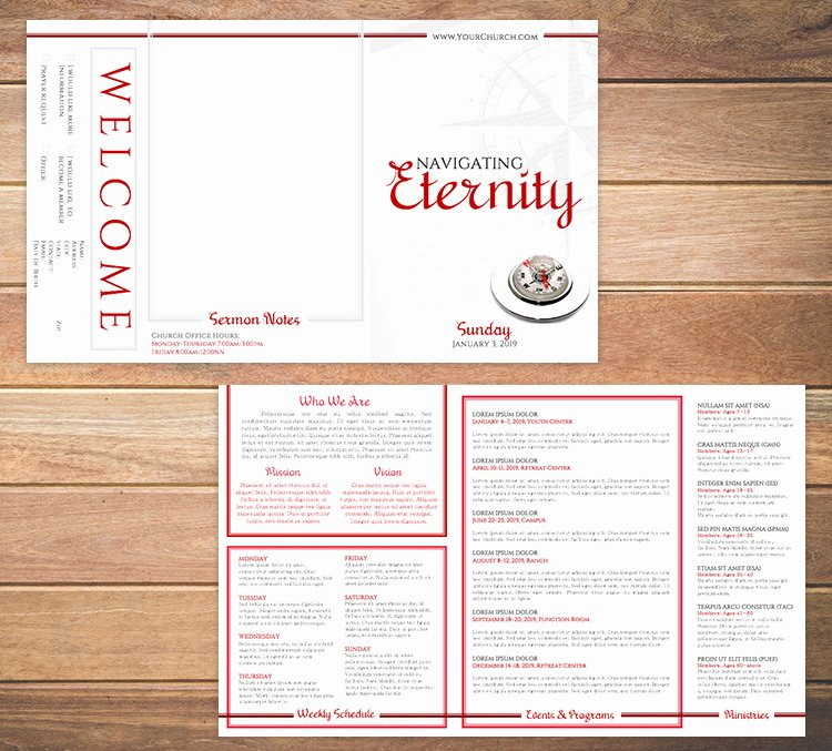 Church Bulletin Templates Free Awesome Free Church Bulletin Templates 8 Professionally Designed
