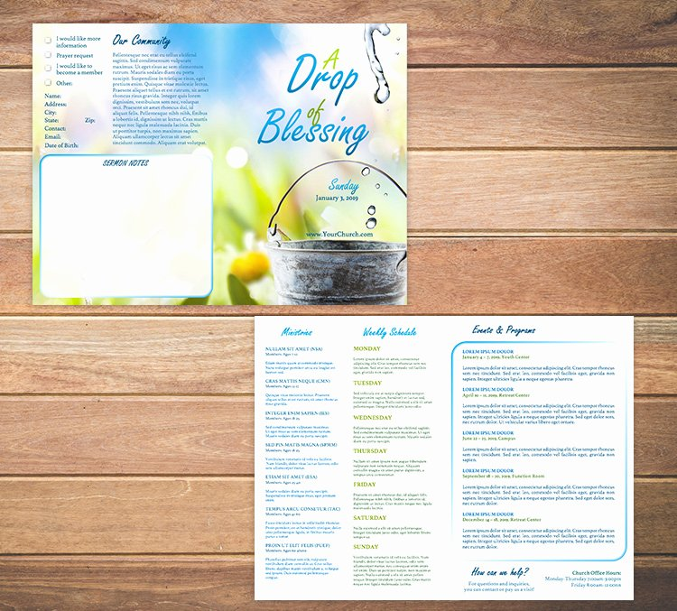 Church Bulletin Templates Free Awesome Free Church Bulletin Templates Customize In Microsoft Word