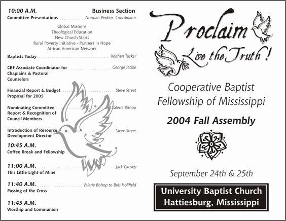 Church Bulletin Templates Free Beautiful Church Program Template