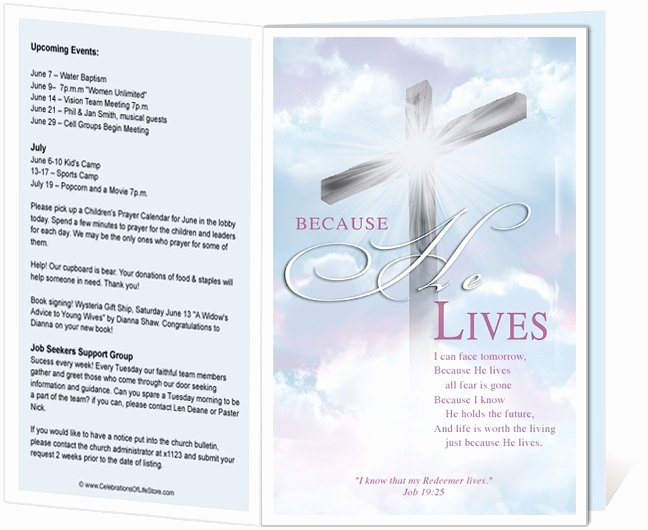 Church Bulletin Templates Free Elegant 14 Best Images About Printable Church Bulletins On