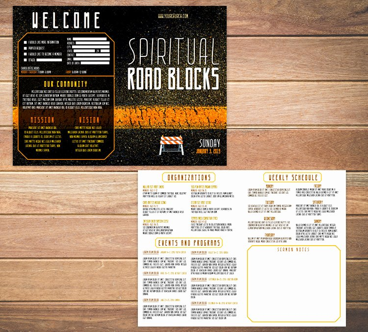Church Bulletin Templates Free Elegant Free Church Bulletin Templates 8 Professionally Designed