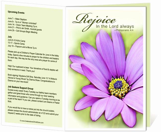Church Bulletin Templates Free Lovely Church Bulletin Templates Flower Church Bulletin