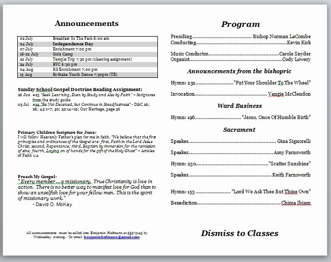 Church Bulletin Templates Free Lovely Church Bulletins