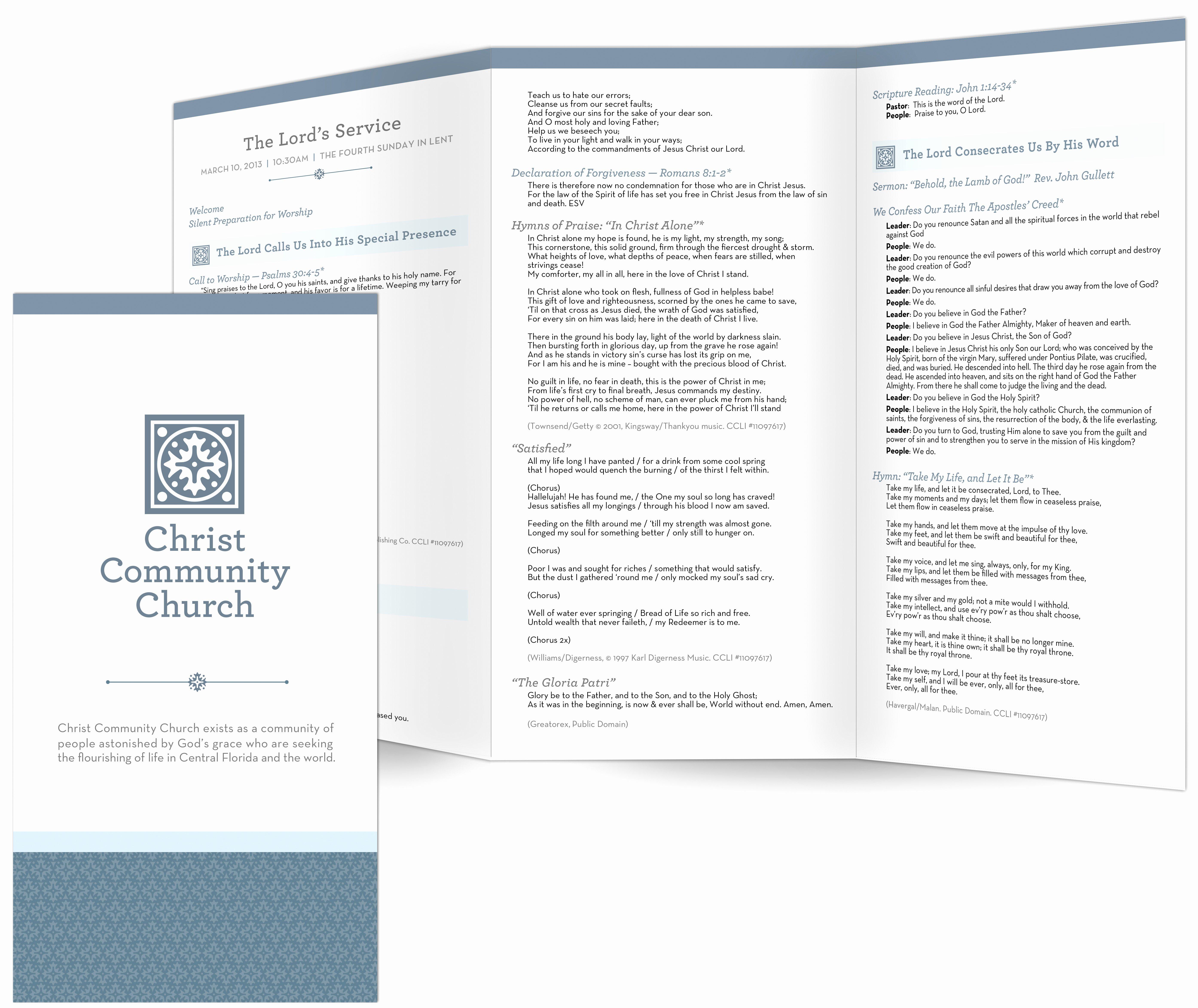 Church Bulletin Templates Free Luxury Church Bulletin Templates