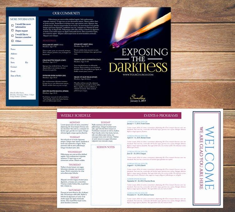 Church Bulletin Templates Free Luxury Free Church Bulletin Templates 8 Professionally Designed