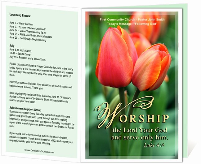 Church Bulletin Templates Free Unique 14 Best Printable Church Bulletins Images On Pinterest