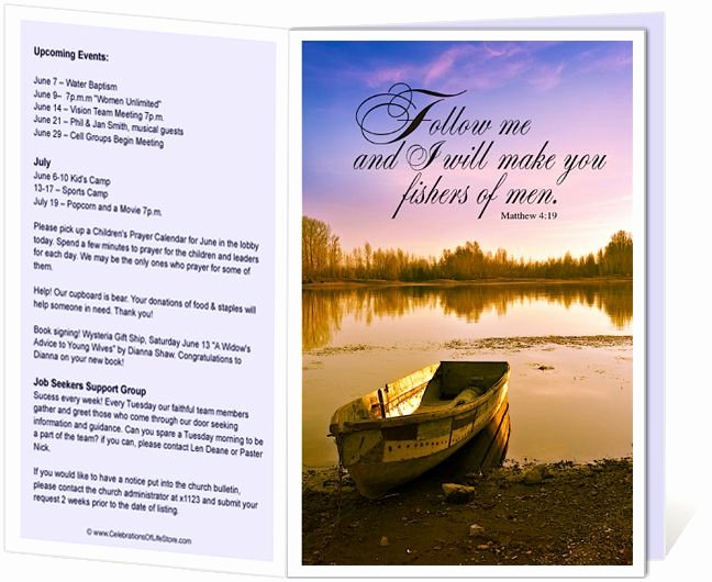 Church Bulletin Templates Free Unique Church Bulletins Templates I Will Make You Fishers Of