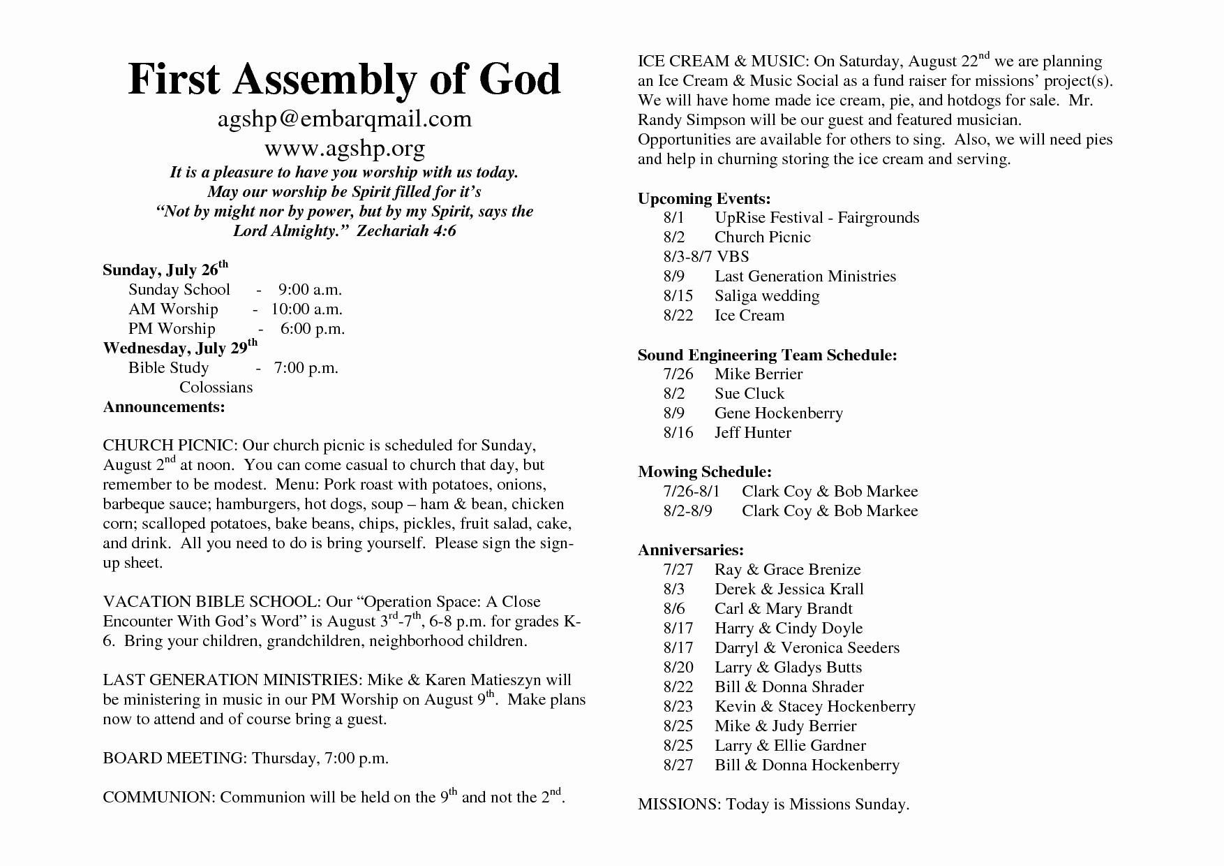 Church Bulletin Templates Word Beautiful 26 Of Church Bulletin Template Microsoft Word