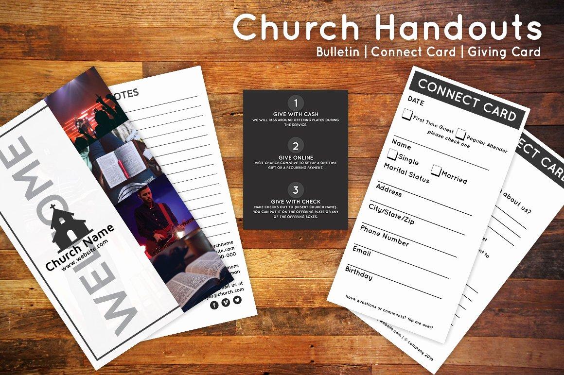 Church Bulletin Templates Word Elegant Church Bulletin & Connect Card Flyer Flyer Templates On