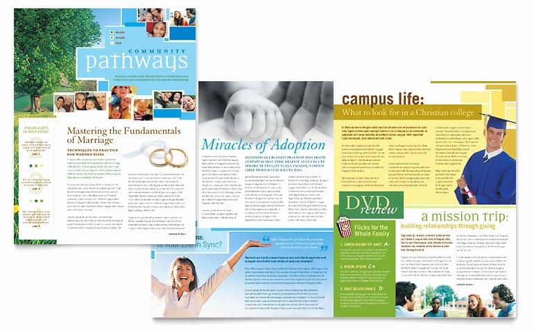 Church Bulletin Templates Word Elegant Munity Church Newsletter Template Word & Publisher