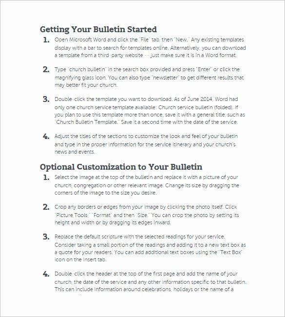 Church Bulletin Templates Word Inspirational 26 Of Church Bulletin Template Microsoft Word