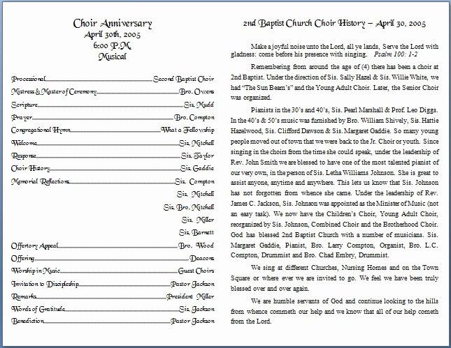 Church Bulletin Templates Word Lovely Church Bulletin Templates