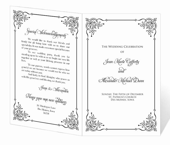 Church Program Template Free Awesome Wedding Program Template Printable Instant Download
