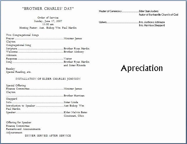 Church Program Template Free Beautiful Church Bulletin Templates