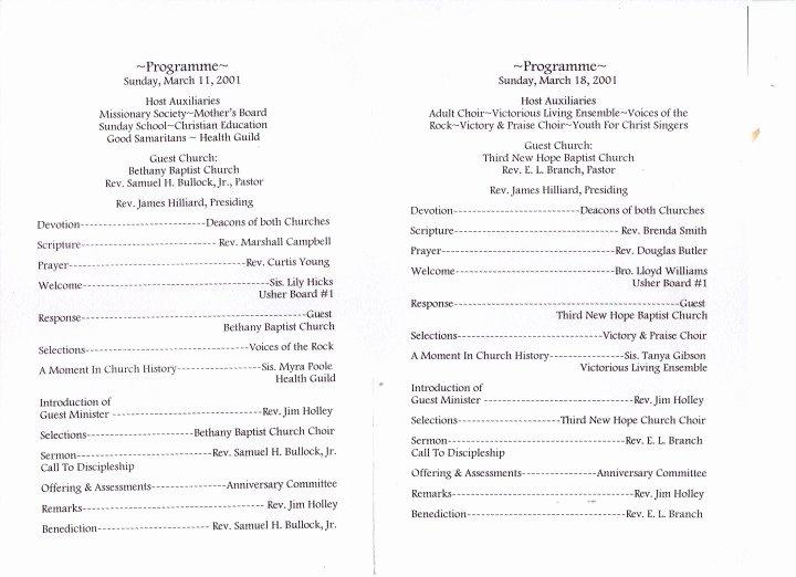 Church Program Template Free Beautiful Church Program Template