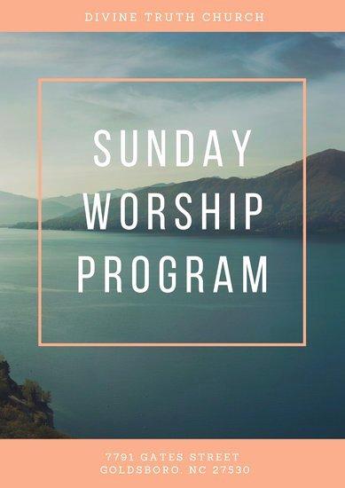 Church Program Template Free Beautiful Customize 20 Church Program Templates Online Canva
