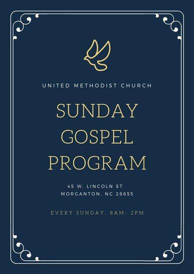 Church Program Template Free New Customize 21 Church Program Templates Online Canva