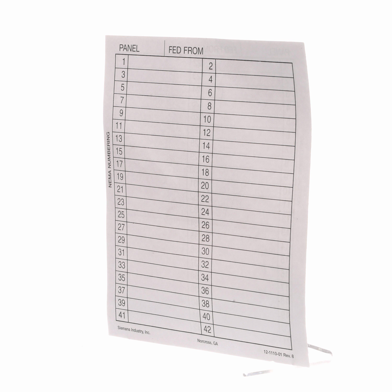 Circuit Breaker Directory Template Elegant Distribution Control Centers & Transformers Panelboards