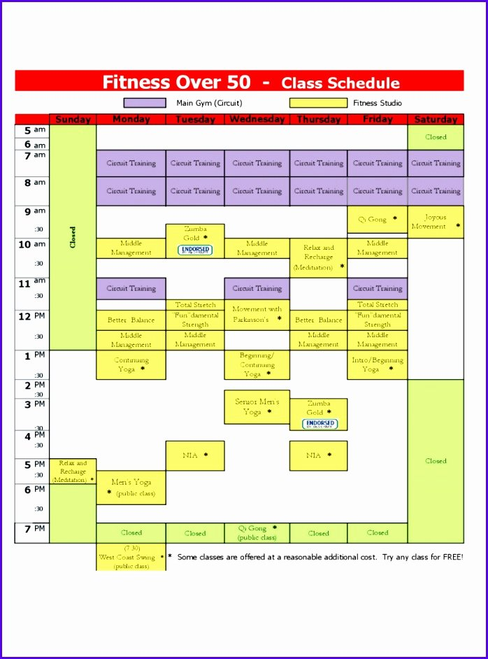 Class Schedule Template Word Best Of 6 Excel Class Schedule Template Exceltemplates