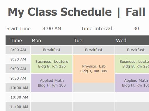 Class Schedule Template Word Elegant Class Schedule Fice Templates
