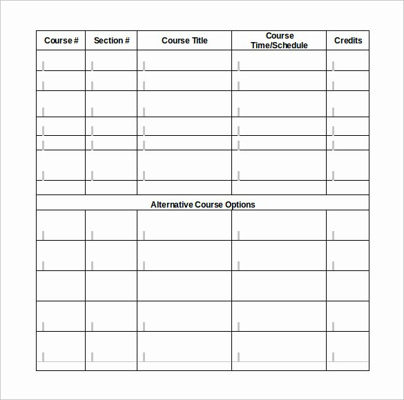 Class Schedule Template Word Elegant Class Schedule Template 9 Download Free Documents In