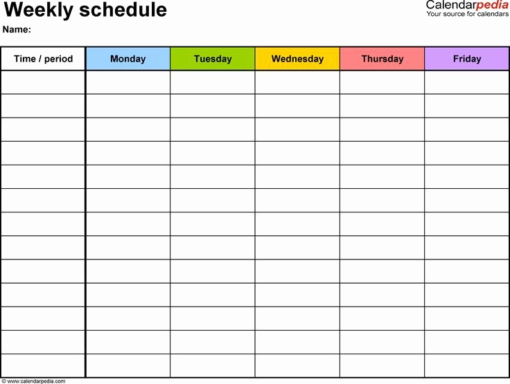 Class Schedule Template Word Fresh Cute Class Schedule Maker – Planner Template Free