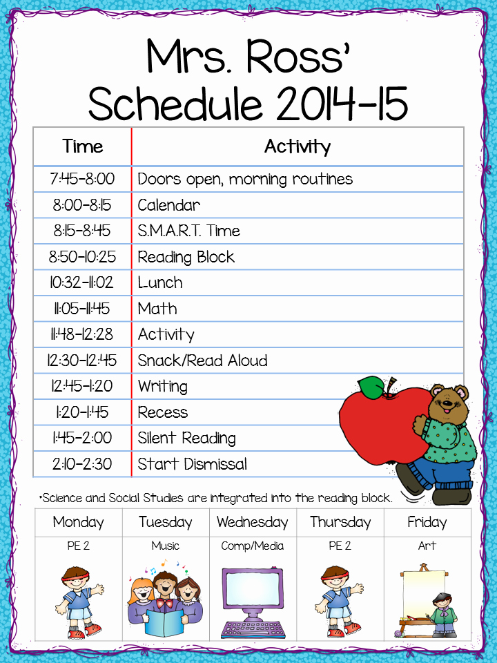 Class Schedule Template Word Lovely Class Schedule Freebie