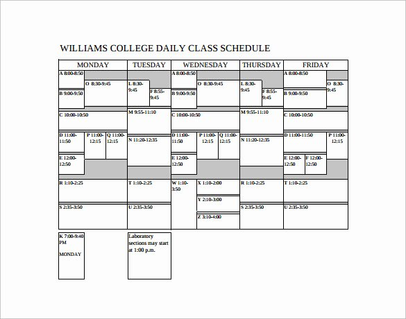 Class Schedule Template Word Luxury Class Schedule Template 9 Download Free Documents In