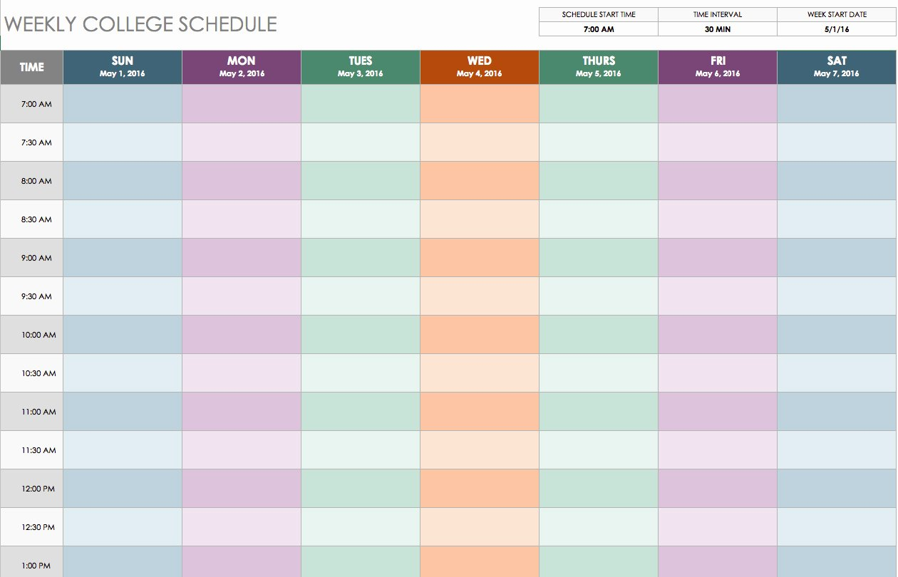 Class Schedule Template Word New Weekly Class Schedule Maker