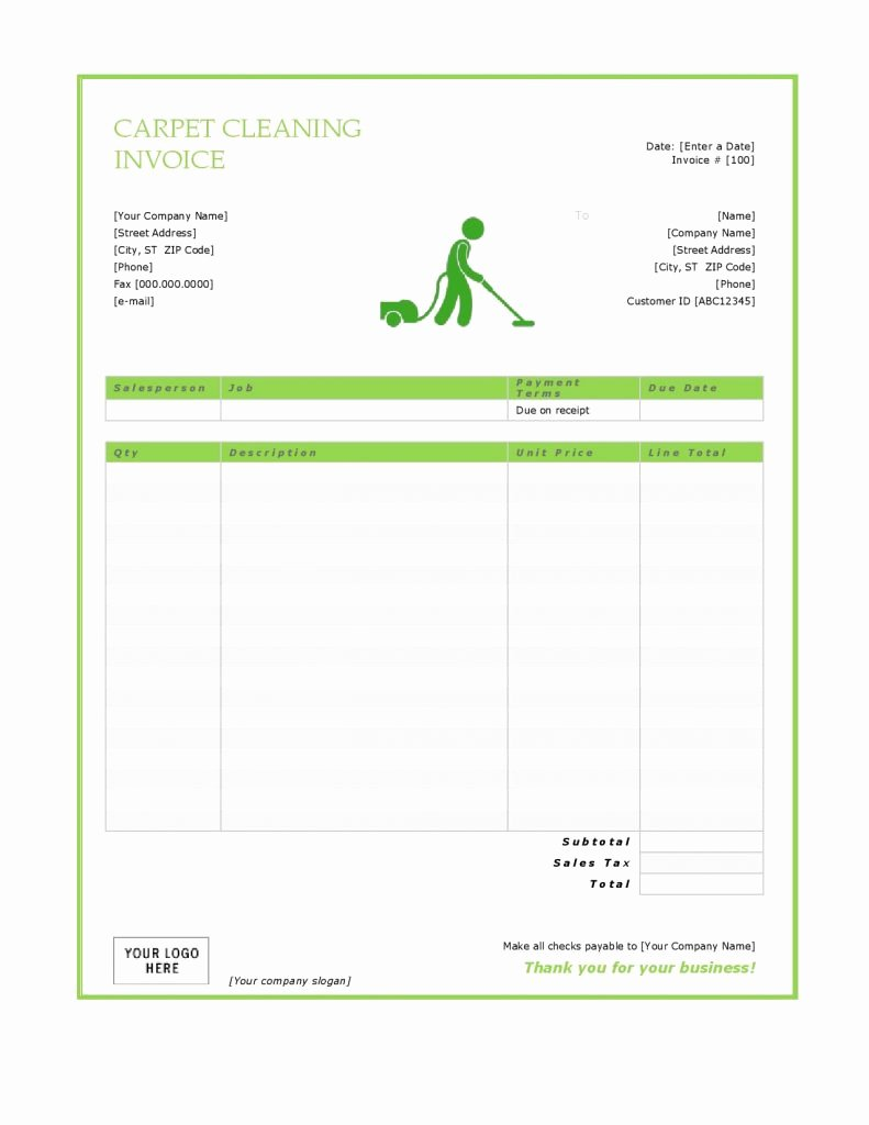 Cleaning Services Invoice Template Beautiful 27 Blank Invoice Templates Free Word Pdf Psd