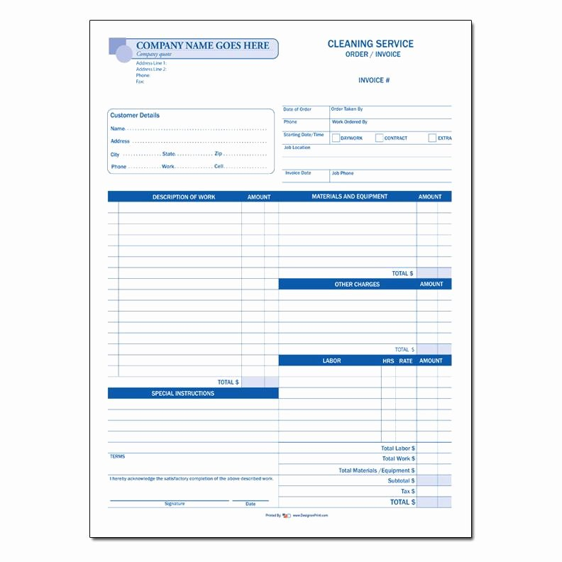 61 cleaning and janitorial invoice forms