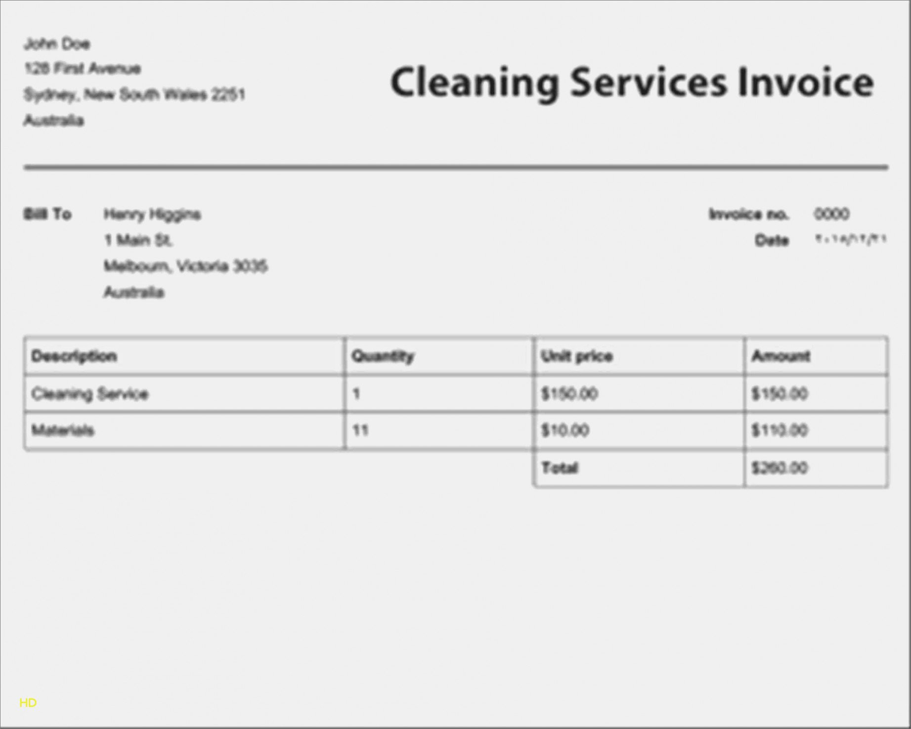 Cleaning Services Invoice Template Inspirational Learn the Truth About Free