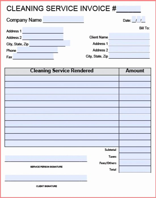 Cleaning Services Invoice Template Lovely Carpet Cleaning Invoice