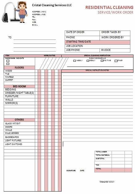 Cleaning Services Invoice Template New Free Sample Cleaning Invoices