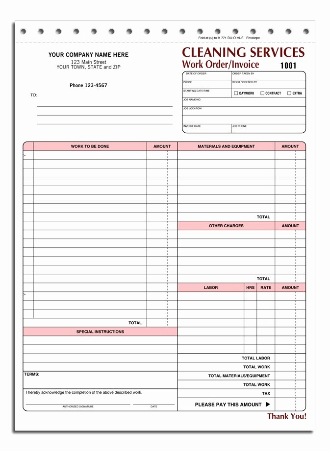 Cleaning Services Invoice Template Unique House Cleaning Free Printable House Cleaning Invoices