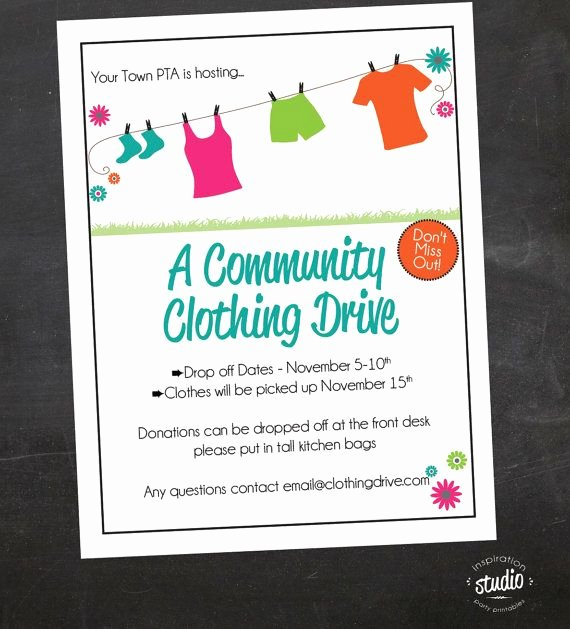 Clothing Drive Flyer Template Awesome if You are Planning A Clothing Drive School Church or