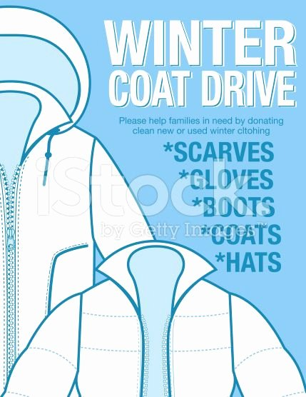 Clothing Drive Flyer Template Awesome Winter Coat Drive Charity Poster Template assortment Of