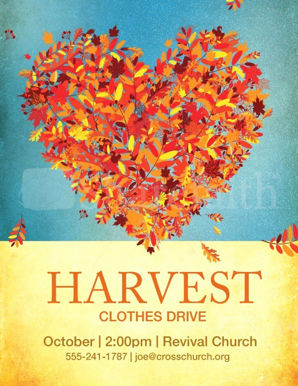 Clothing Drive Flyer Template Beautiful Harvest Clothes Drive