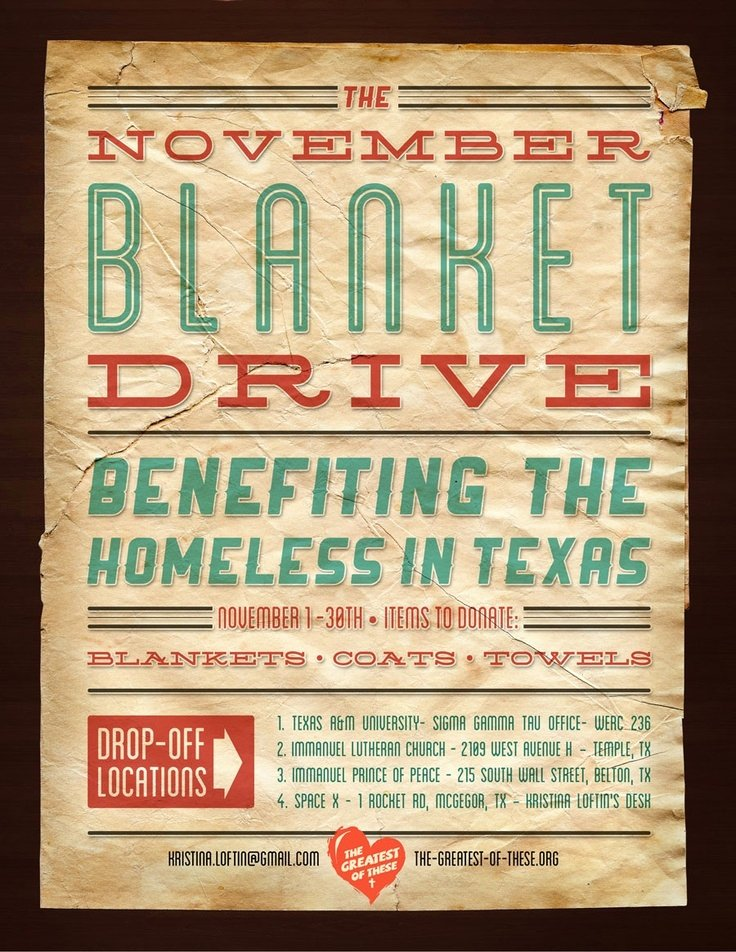 Clothing Drive Flyer Template Best Of Blanket Drive Poster by the Greatest Of these
