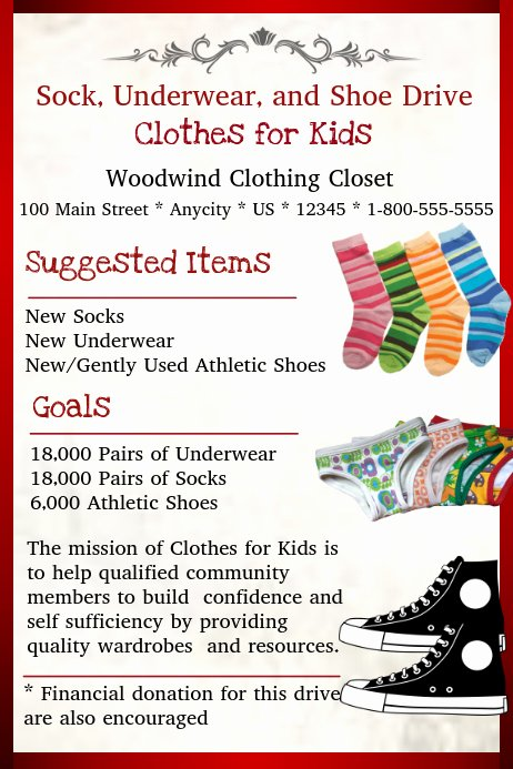 Clothing Drive Flyer Template Best Of Clothing Drive Template