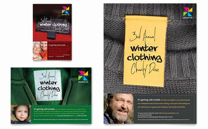 Clothing Drive Flyer Template Fresh Winter Clothing Drive Designs to Encourage Donations